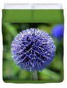 Blue Allium Duvet Cover