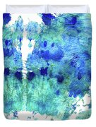 Blue And Aqua Abstract - Wishing Well - Sharon Cummings Duvet Cover