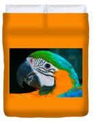 Blue And Gold Macaw Headshot Duvet Cover