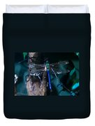 Blue And Green Dragonfly Duvet Cover