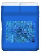 Blue And Green Quilt Duvet Cover