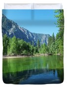 Blue And Green River Duvet Cover