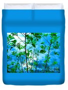 Nature's Gifts Of Blue And Green Duvet Cover
