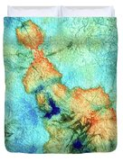 Blue And Orange Abstract - Time Dance - Sharon Cummings Duvet Cover