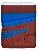 Blue And Red Abstract Duvet Cover