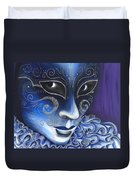 Blue And Sliver Carnival Flair  Duvet Cover