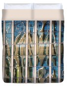 Blue And Tan Abstract Duvet Cover