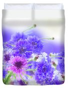 Blue And Violet Cornflowers Duvet Cover