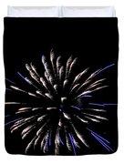 Blue And White Fireworks Duvet Cover
