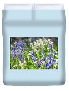 Blue And White Hyacinth Flowers Duvet Cover