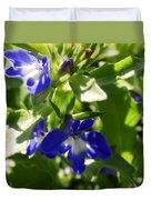 Blue And White Lobelia Duvet Cover
