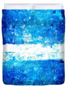 Blue And White Modern Art - Two Pools 2 - Sharon Cummings Duvet Cover
