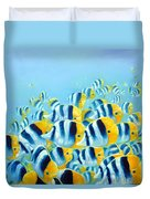 Blue And Yellow Fish Duvet Cover