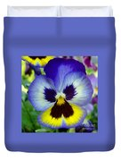 Blue And Yellow Pansy Duvet Cover