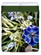 Blue Anemone Duvet Cover