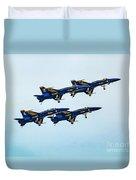 Blue Angels Carrier Landing Duvet Cover