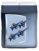 Blue Angels - Oof Duvet Cover