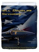 Blue Angels Ta-4j Skyhawk Duvet Cover