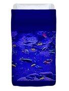 Blue Aquarium Duvet Cover