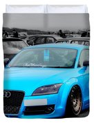 Blue Audi Duvet Cover