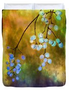 Blue Autumn Berries Duvet Cover by Judi Bagwell