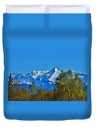 Blue Autumn Sky Duvet Cover
