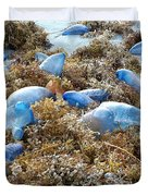 Seeing Blue At The Beach Duvet Cover by Karen Zuk Rosenblatt