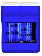 Blue Bar Duvet Cover