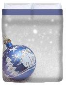 Blue Bauble Duvet Cover