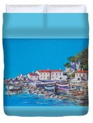 Blue Bay Duvet Cover by Sinisa Saratlic