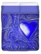 Blue Beats Duvet Cover