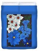 Blue Bell Flowers Duvet Cover