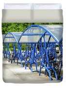 Blue Bicycle Berth Duvet Cover