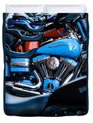 Blue Bike Duvet Cover by Tony Reddington