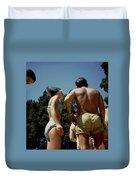 Blue Bikini Group Duvet Cover