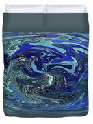 Blue Bird Abstract Duvet Cover