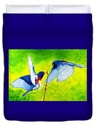 Blue Birds Duvet Cover
