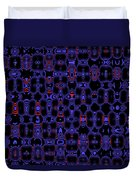 Blue Black Red Warp Abstract Duvet Cover