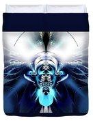 Blue Blazes Duvet Cover