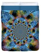 Blue Bling Duvet Cover