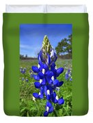 Blue Bonnet Duvet Cover