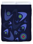 Blue Boomerangs Duvet Cover