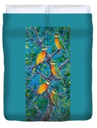 Blue Breasted Bee Eater Duvet Cover