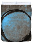 Blue Brown Enso Duvet Cover