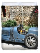 Blue Bugatti Oldtimer Duvet Cover