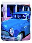 Blue Buick Duvet Cover