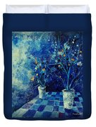 Blue Bunch Duvet Cover