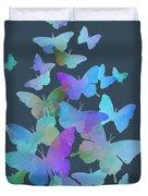 Blue Butterfly Flutter Duvet Cover