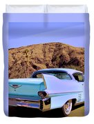 Blue Cadillac Duvet Cover