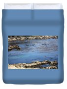 Blue California Bay Duvet Cover